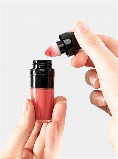 Lipstick Lancome Liquid Shaker Matte Peach Lasting