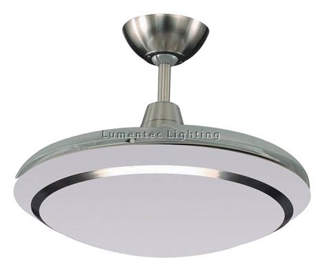 cf0037 wraptor mini 4 blade 955 mm retractable ceiling fan with 32w t5 light in brushed nickel