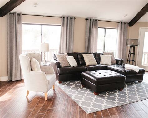 Curtains For Black Furniture by 17 Best Ideas About Brown Leather Furniture On Pinterest