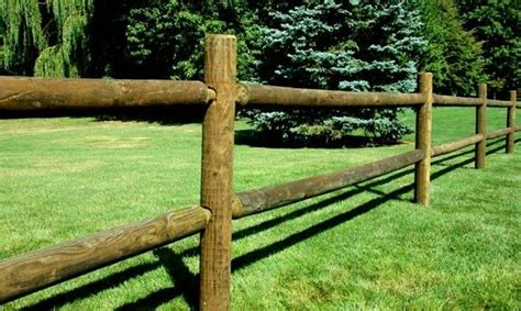 Round Rail Wood Fence 2 And 3 Rail Pressure Treated