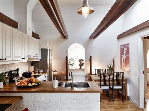 Welcoming Warm Cozy Attic Apartment Rustic Feel by Beautiful Small Attic Apartment In Sweden With
