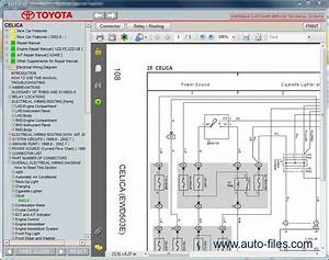 Toyota Celica  Repair Manuals Download  Wiring Diagram  Electronic Parts Catalog  Epc