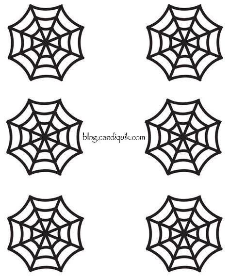spider web template easy diy cupcake toppers