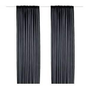 ikea vivan curtains drapes black 2 panels