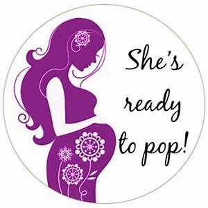 round she39s ready to pop baby shower bag favour labels With ready to pop stickers template