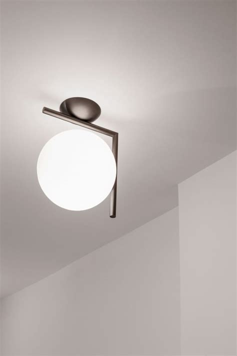 ic wall light brushed brass small by flos clippings