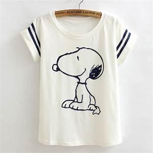 poleras de mujer Loose camisetas t shirts women Flag snoopy Vintage harajuku negra