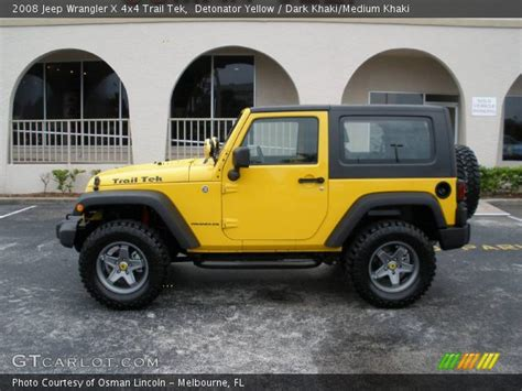 yellow jeep interior detonator yellow 2008 jeep wrangler x 4x4 trail tek