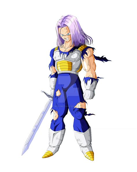 Image Trunks With His Sword And Long Hair Dragon