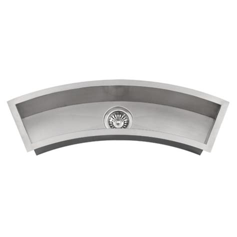 ticor undermount curved trough stainless steel kitchen prep sink tr3200