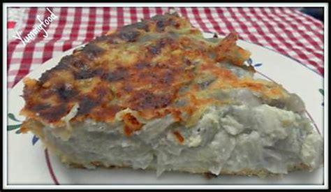 recette de quiche aux oignons rouges p 226 te bris 233 e au fromage