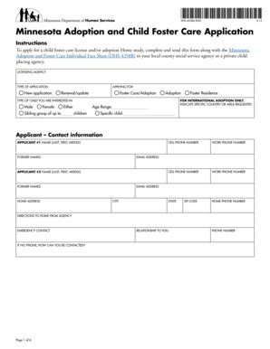 foster care application form fillable online co beltrami mn dhs 4258a eng minnesota