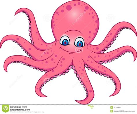 Octopus Cartoon Stock Illustration. Image Of Illustration