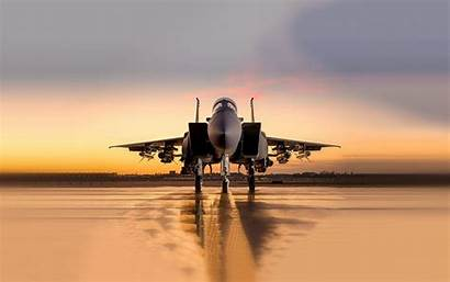 Fighter Eagle Sunset Plane Wallpapers Aircraft Strike