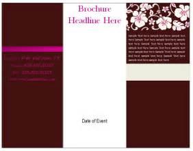 Free Printable Brochure Templates