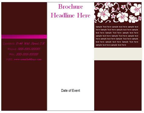 free microsoft word brochure templates tri fold brochure templates free e commercewordpress