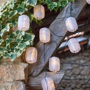 Lampion Lichterkette Solar : 10er led solar lampion lichterkette wei oval lights4fun ~ Watch28wear.com Haus und Dekorationen