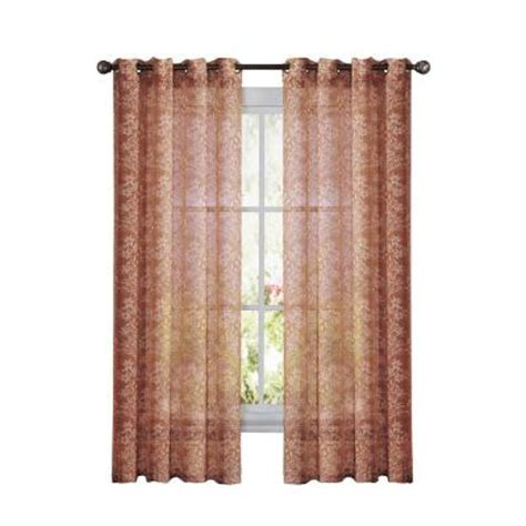 window elements botanica faux linen rust semi sheer