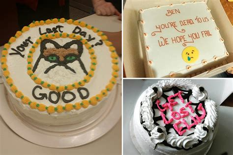 hilarious farewell cakes  leaving employees