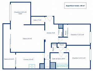 plan appartement echelle With faire un plan d appartement