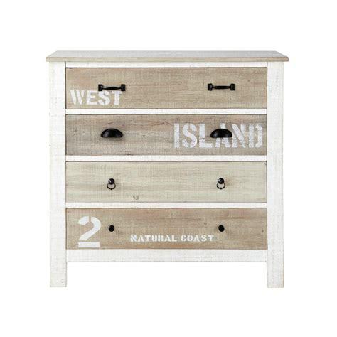 meuble chambre ado fille commode en bois blanche l 90 cm noirmoutier maisons du monde