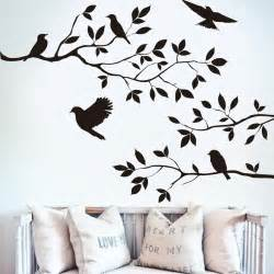 black bird tree branch monster wall paper decals removable vintage kitchen wall sticker home