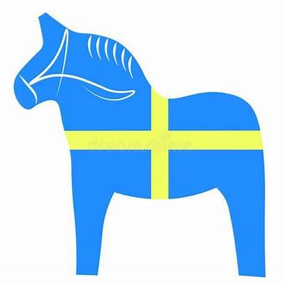 Dala Horse Swedish Traditional Illustration Painted Vector