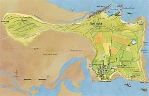 traditional maps Holy Island Lindisfarne Priory St ...