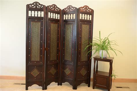 Vintage Charleston Pattern 6 Ft. Tall Wood Room Divider Thoughtful Homemade Christmas Gifts Gift For A Family Jar Packages Ideas Men Diy Blue What To