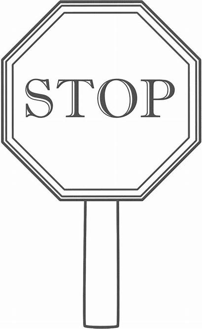 Coloring Sign Pages Stop Printable Signs Sheet