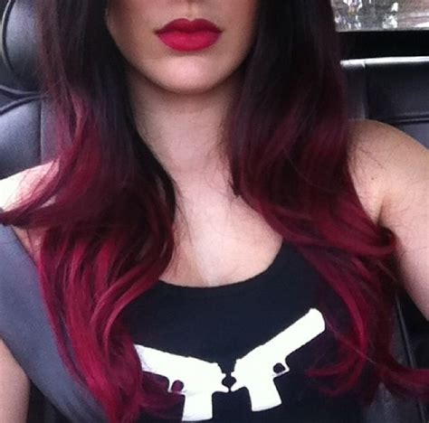 hair black  burgundy ombre hair pinterest