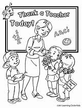 Coloring Appreciation Teacher Week sketch template