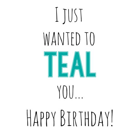 Teal Birthday Gift Idea For Friends Funsquared