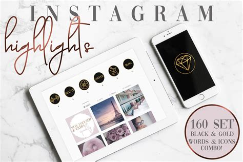 They feature instagram stories that once you've got some highlights added, you'll probably want to add some nice highlight covers or thumbnails so they look great at the top of your profile. 160 Set ICONS & WORDS COMBO Instagram Story Highlight Covers Black and Gold - Oh Hello Doll