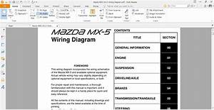 Mazda Mx5 2012 Wiring Diagram