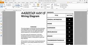 Mazda Mx5 2012 Wiring Diagram