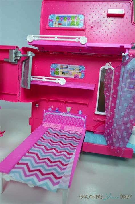 barbie sisters glam camper  bedroom growing  baby