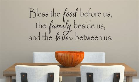 vinyl cuisine bless the food before us wall decal kitchen vinyl decal