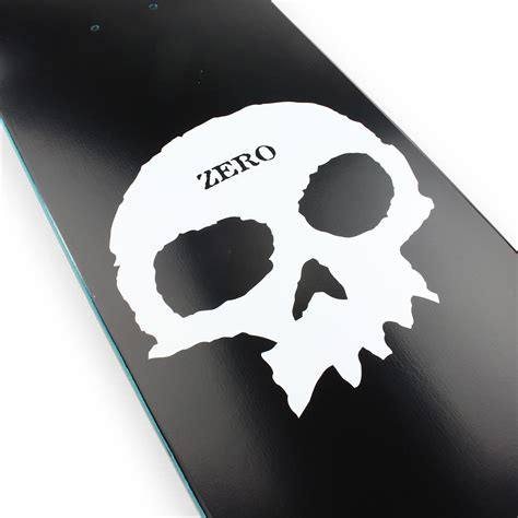 Zero Decks 775 by Zero Skateboards Single Skull 775 Deck Black 02