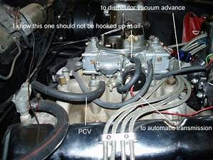 Where Does The Vacuum Advance Hookup On A Quadrajet Carb
