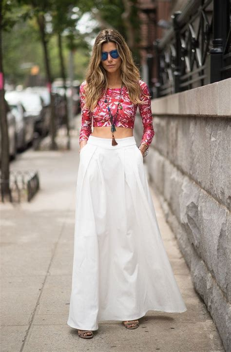 statement maxi skirts outfits  fashiontastycom