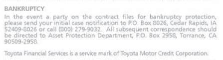 Financial Services Address by Mailing Address For Toyota Financial Services Due Diligence