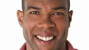 Black African-American Man Smiling Face Stock Footage ...