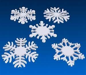 Polystyrene Snowflakes Foam Cutting Cut Polystyrene