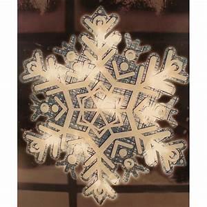 13, U0026quot, Lighted, Shimmering, Snowflake, Christmas, Window, Silhouette, Decoration, -, Walmart, Com