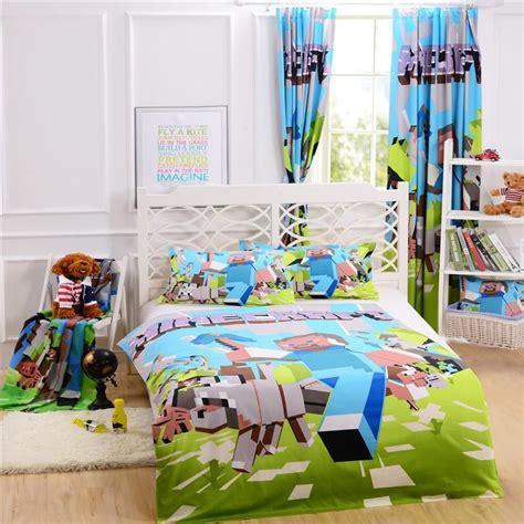 quality  match minecraft bedding curtain pillow