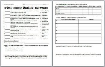 forensic science crime scene review worksheet  answer
