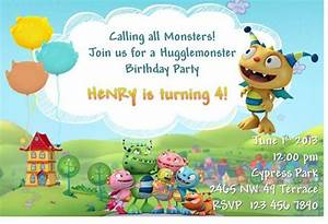 Henry Hugglemonster Birthday Party Invitation and Thank by ...