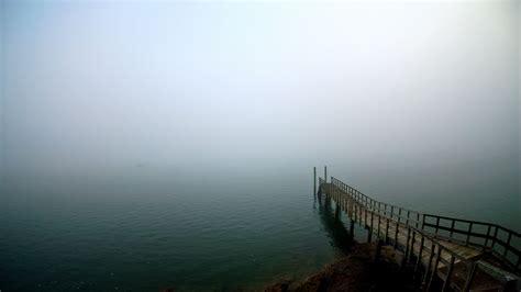 hd wallpaper berth fog lake clear water