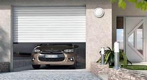 Porte de garage electrique ou mecanique rouen for Porte de garage enroulable jumelé avec la porte blindée